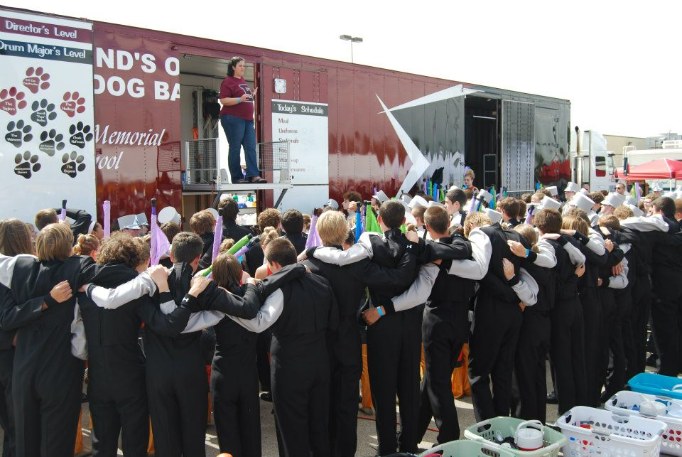 The Director's Platform is a great place to rally the band before or after a performance!