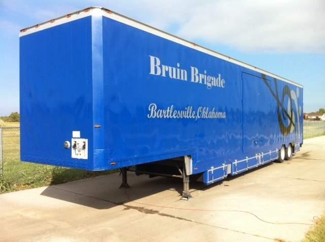 Bartlesville High School Marching Band Semi Equipment Trailer Blue