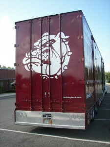 Diamond Tread Plate Semi Trailer Bumper Back Door Graphics