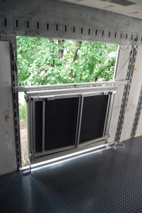 Director's Platform in the Transit Position--Takes up no floor space, and no securing straps needed!