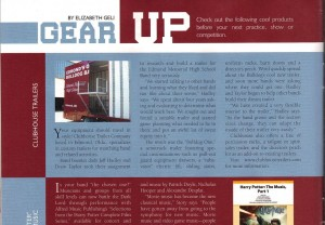 Halftime Magazine - Gear Up - Clubhouse Trailers
