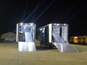 Exterior Flood Lights and Hydraulic Ramps