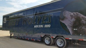 Shoemaker High School Marching Band Semi Trailer