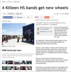 Killeen High School gets new High School Trailers