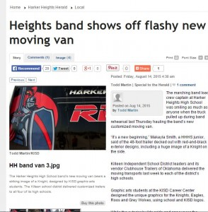 Harker Heights Band gets new Semi Trailer