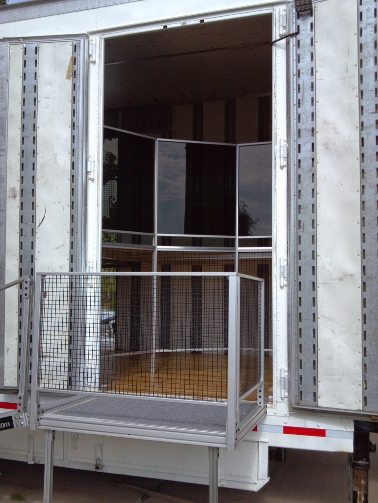 Entry Ramp on Bixby Marching Band Trailer