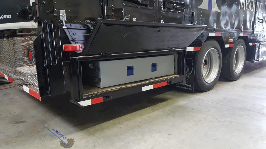 Color Guard Drawers for Marching Band Semi Trailers North Mesquite High School Bellybox Storage Drawers