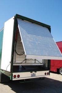 Semi Trailer Rear Bumper and Hydraulic Ramp Diamond Treadplate Semi Bumper