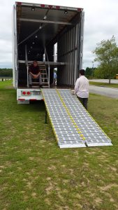 Aluminum Ramps for Marching Band Trailer Front Ensemble Equipment