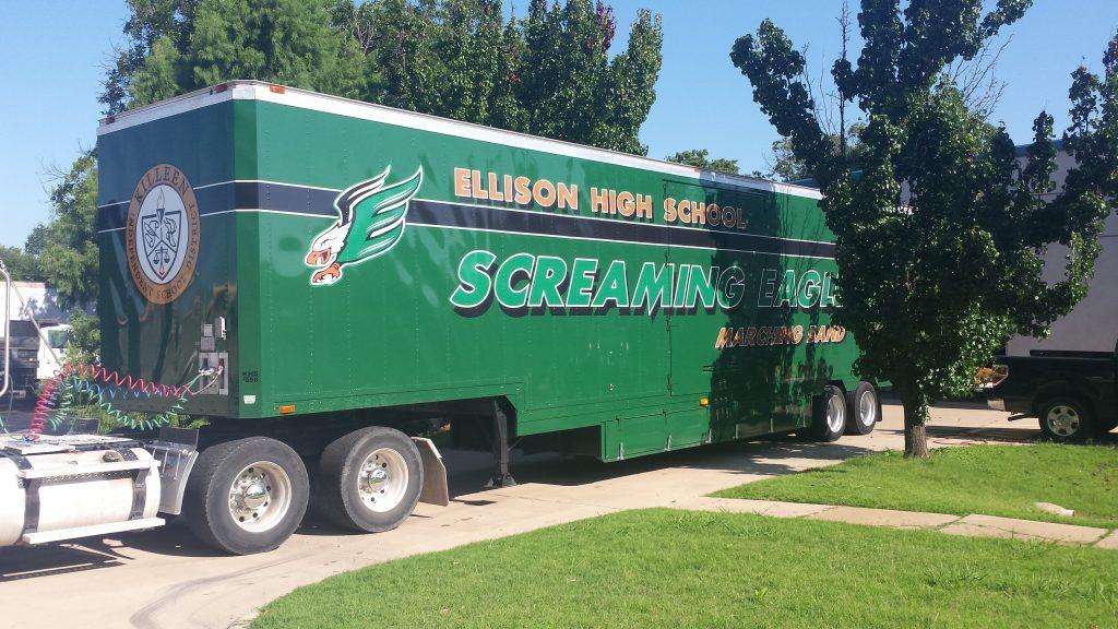 Ellison High School Marching Band Semi Trailer