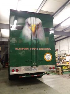 Killeen ISD Band Trailer with Rear Graphics and Bumper Cover