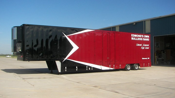 Edmond Memorial's Semi Trailer