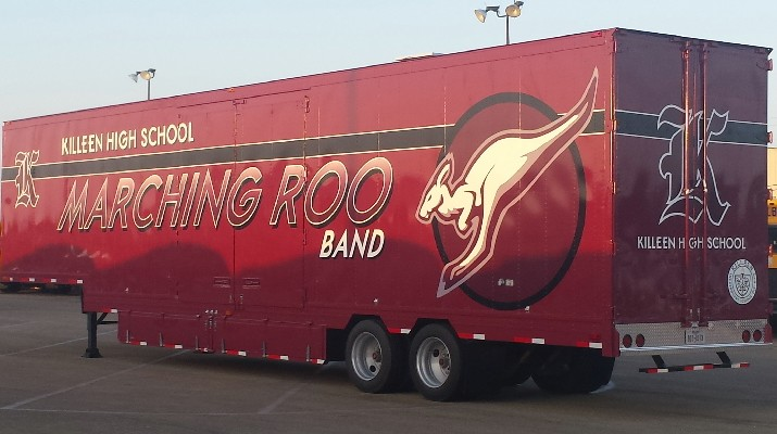 Killeen High School Marching Band Semi Trailer