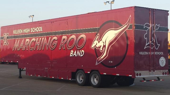 Killeen High School Marching Band Semi Trailer