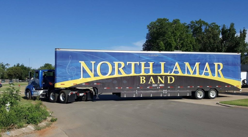 North Lamar High School Marching Band Semi Trailer