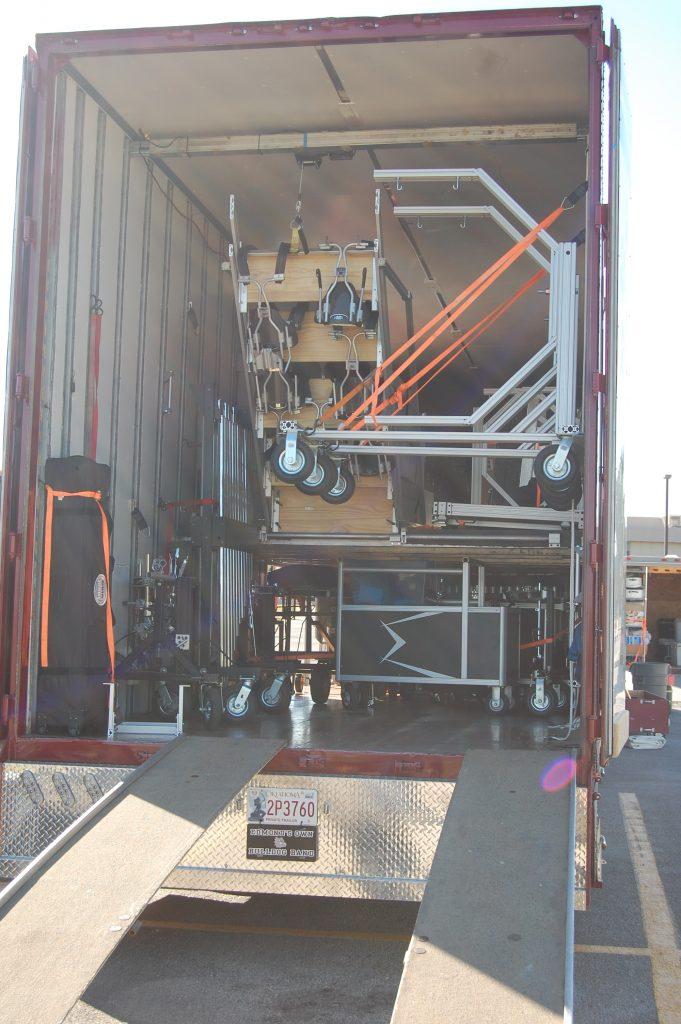 Edmond Memorial Semi Equipment Trailer loaded up ready for travel!