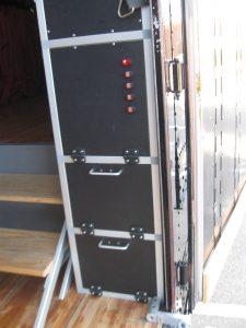 Electrical Cabinet in Edmond Memorial Band Semi Trailer