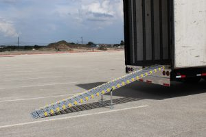 Aluminum Ramps for Mesquite ISD Marching Band Trailer