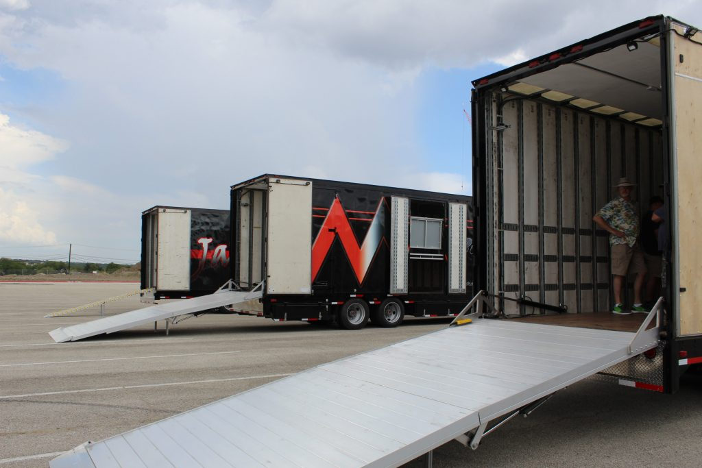 Clubhouse Trailers Full Width Hydraulic Ramp for Marching Bands