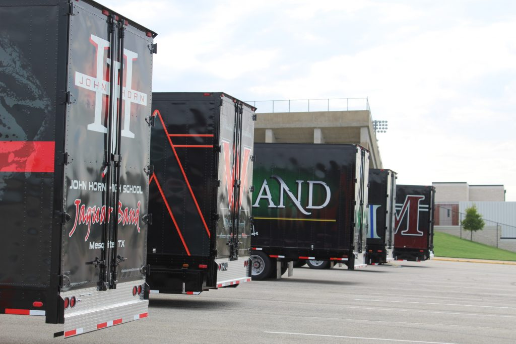 Clubhouse Trailers Delivers 5 New High School Marching Band Semi Trailers!