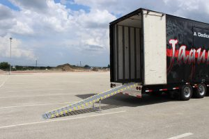 John Horn High Semi Marching Trailer Rear Aluminum Ramp
