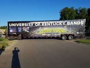University of Kentucky Wildcat Marching Band Semi Trailer Leaving the Clubhouse