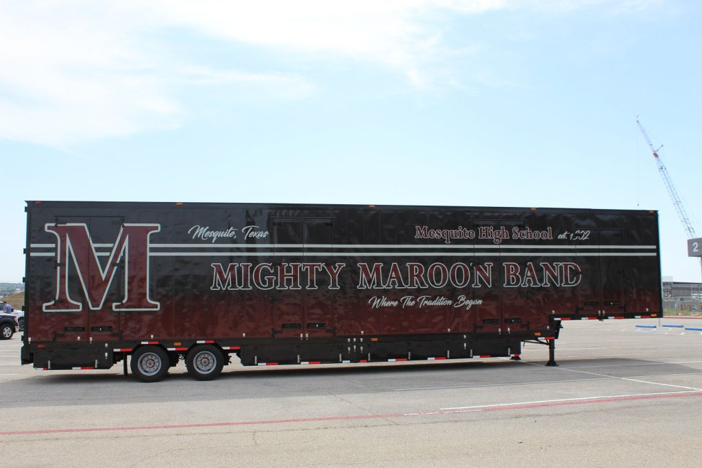 Mesquite High School Semi Marching Trailer