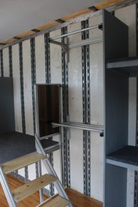 Mesquite Semi Marching Trailer Interior Uniform Storage
