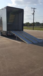 Mesquite High School Band Semi Trailer with Aluminum Ramps