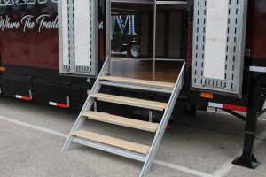 Mesquite Semi Marching Trailer Side Entry Stairs