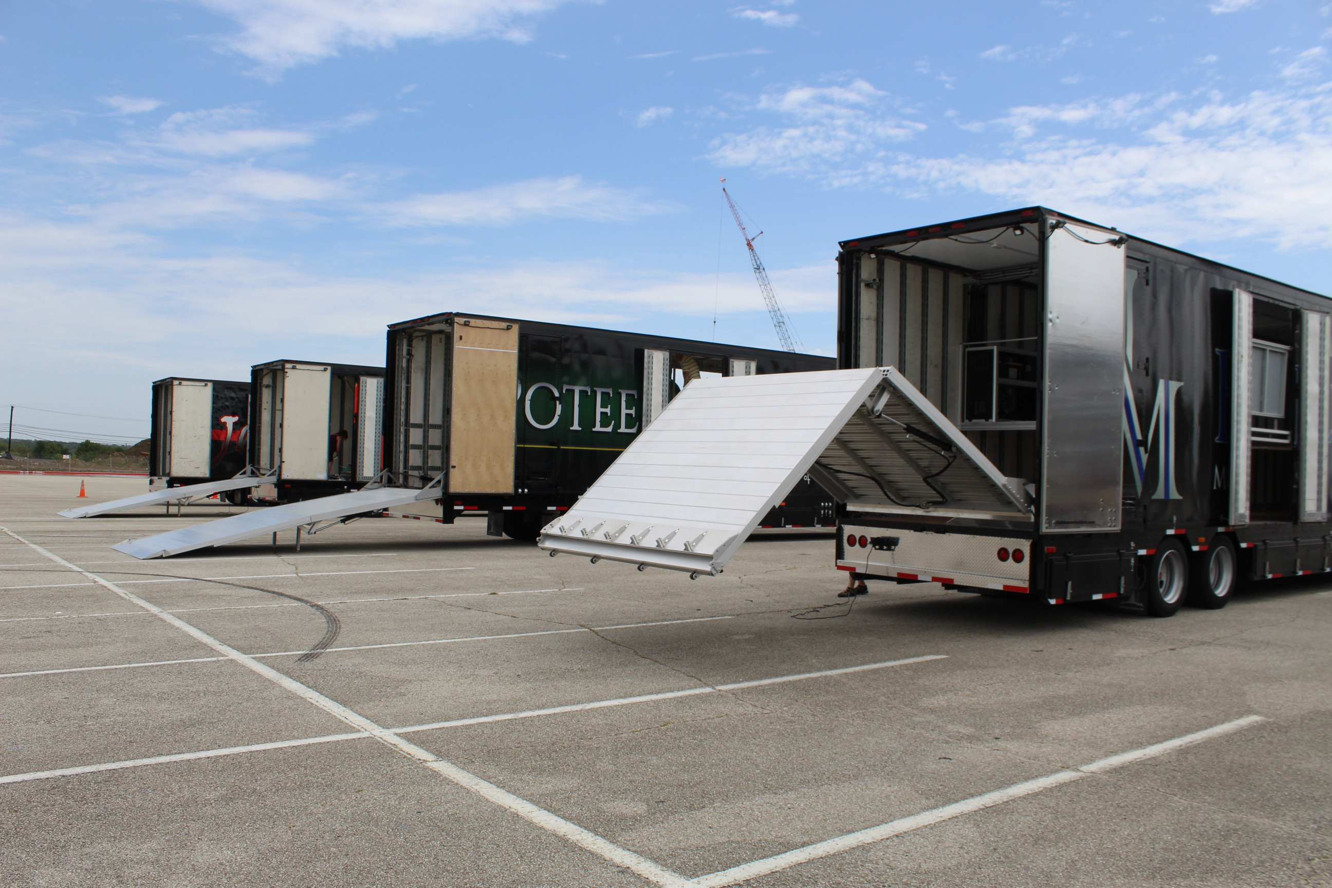 Mesquite ISD High School Marching Band Semi Trailers Rear Ramps