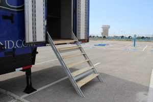 North Mesquite High Semi Trailer Side Entry Stairs