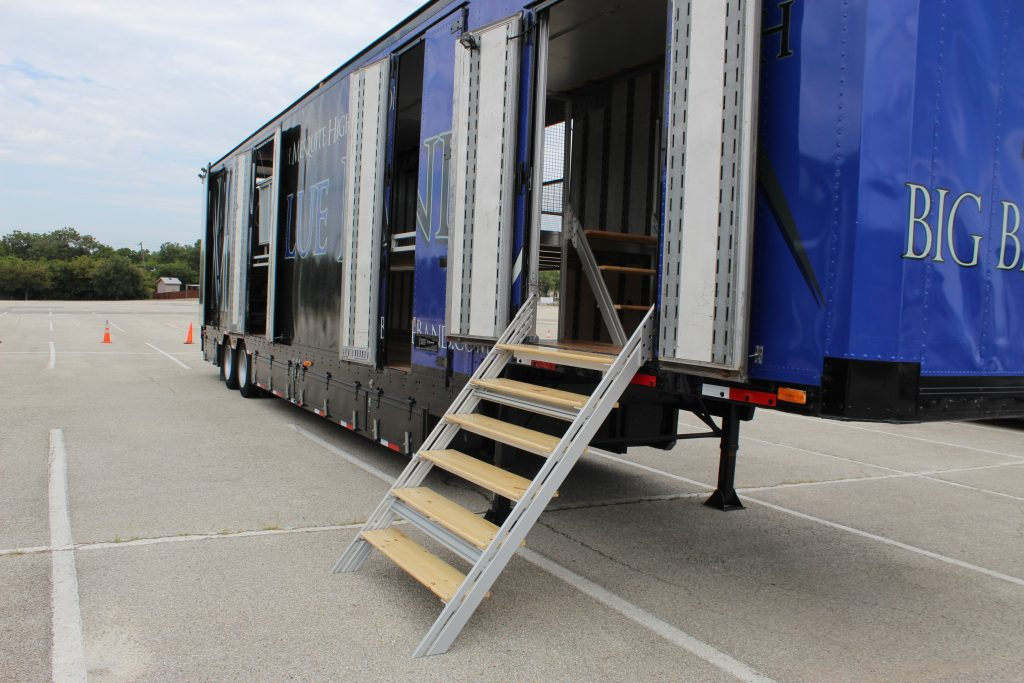 North Mesquite High Marching Band Side Entry Semi Trailer Staircase
