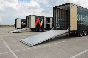 Poteet High Band Semi Trailer Rear Hydraulic Ramp