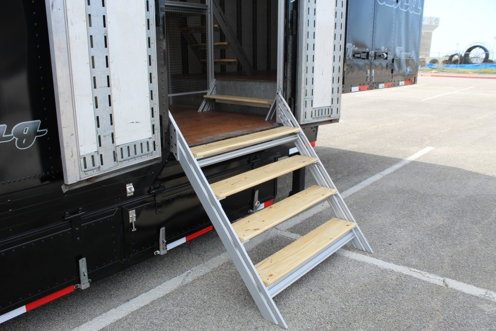 West Mesquite Marching Band Semi Trailer Side Entry Staircase