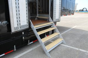 West Mesquite High Semi Trailer Side Entry Stairs