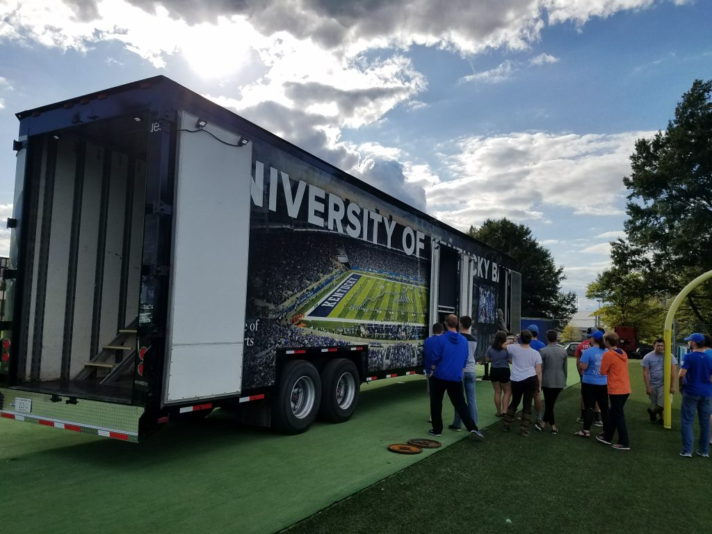 University of Kentucky Marching Band Semi Trailer Loading