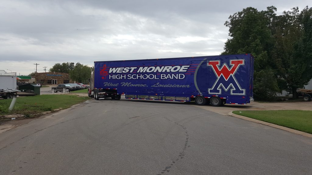 West Monroe High School Marching Band Semi Trailer