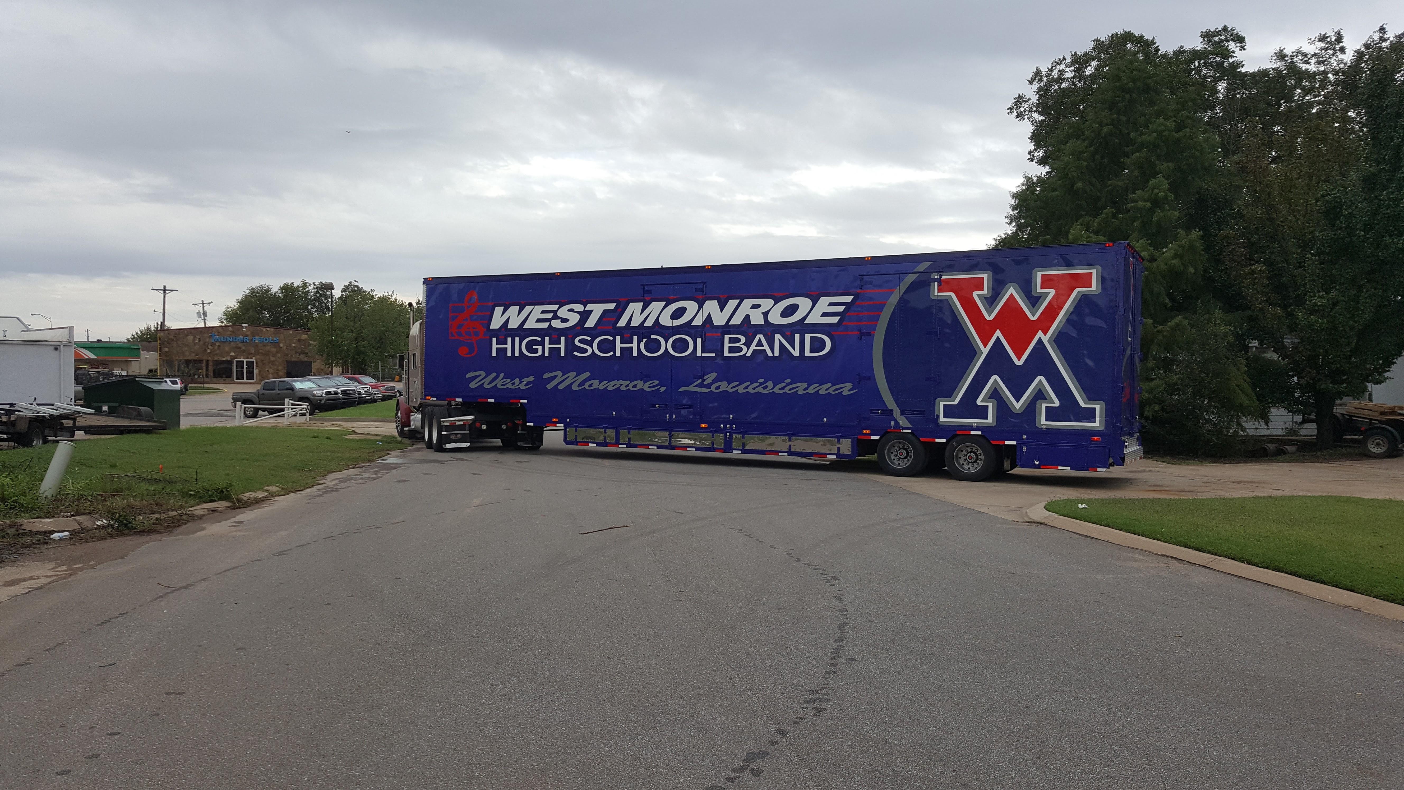 West Monroe High School Marching Band Semi Trailer