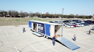 McKinney High School Marching Band Semi Trailer Hydraulic Ramp
