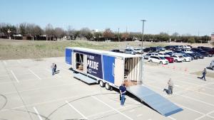 McKinney High School Marching Band Semi Trailer Hydraulic Ramp