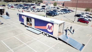 McKinney North High School Marching Band Semi Trailer Hydraulic Ramp