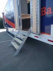 McKinney North High School Marching Band Semi Trailer Side Entry Retracting Staircase