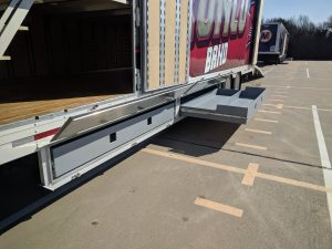 McKinney Boyd High School Marching Band Semi Trailer Color Guard Flag Storage Drawers Bellybox