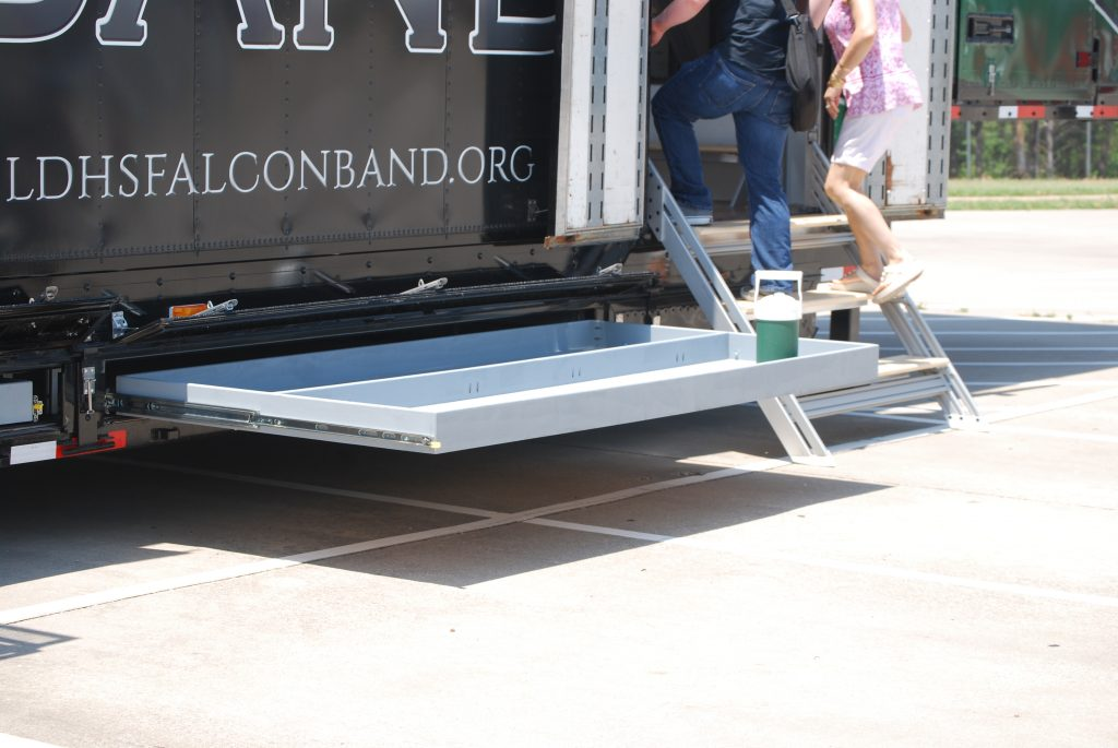 Lake Dallas High School Marching Band Semi Equipment Trailer Color Guard Storage Drawers