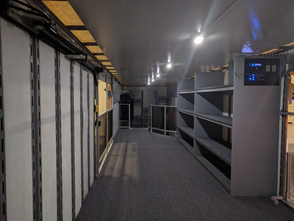 George Ranch High School Marching Band Semi Trailer Interior Design with LED Lighting