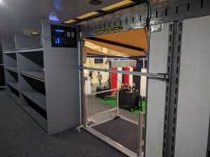 George Ranch High School Marching Band Semi Trailer Director's Platform with Safety Bar