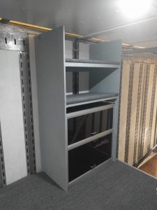 High School Band Semi Equipment Trailer Hydraulic Power Unit and Electrical Cabinet