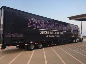 Fulshear High School Marching Band Semi Equipment Trailer