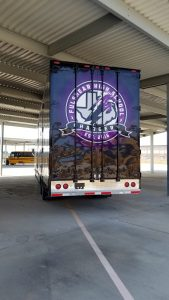 Fulshear High School Marching Band Semi Equipment Trailer Rear Doors